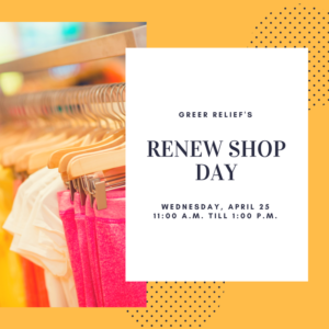 RENEW Shop @ Greer Relief & Resources Agency