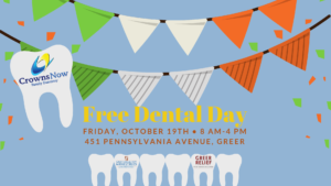 Volunteer Opportunity: Crowns Now Free Dental Day @ Crowns Now