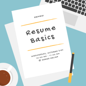RENEW Resume Basics @ Greer Relief & Resources Agency