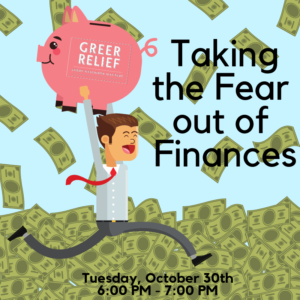 RENEW Taking the Fear Out of Finances @ Greer Relief & Resources Agency