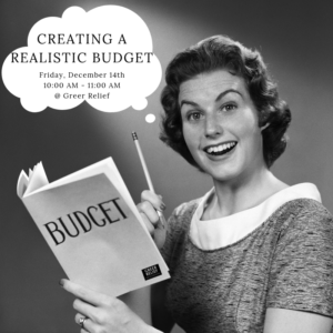 RENEW Creating a Realistic Budget @ Greer Relief & Resources Agency