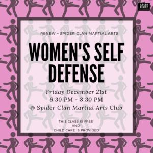 RENEW Women's Self Defense @ Spider Clan Martial Arts Club