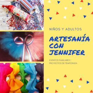 Advertisement for Crafting with Jennifer en Espanol