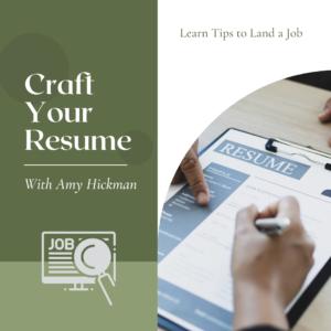 Craft Your Resume RENEW Class