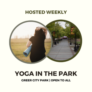Advertisement for Yoga in the Park