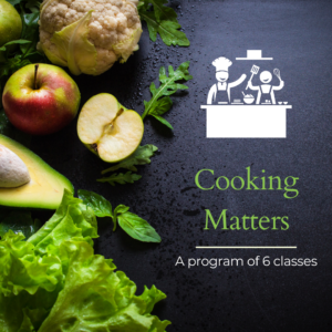 Advertisement for Cooking Matters with Myra