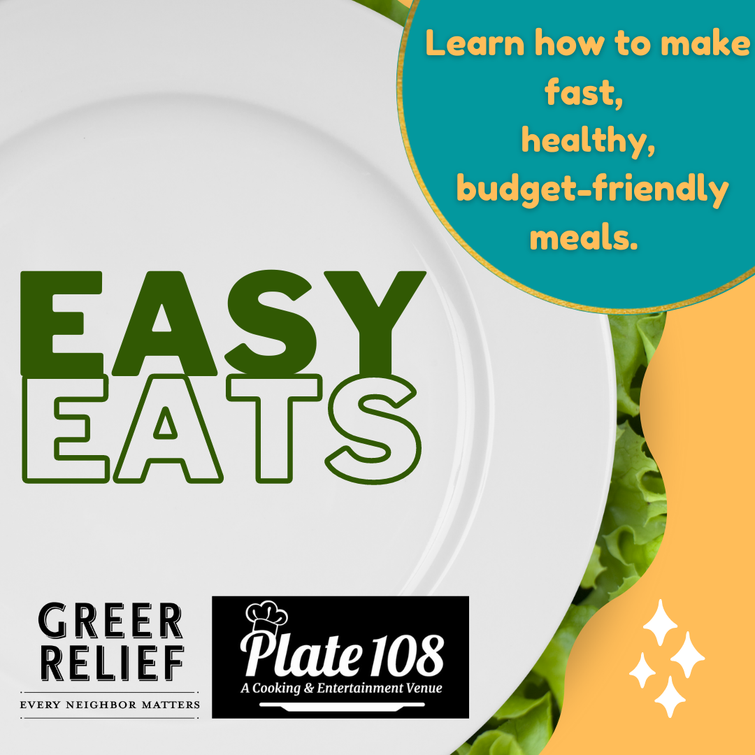 Advertisement for Plate 108 + RENEW: Easy Eats