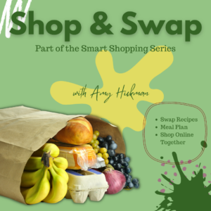 Advertisement for Shop & Swap with Amy Hickman