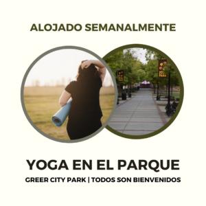 Advertisement for Yoga en el parque